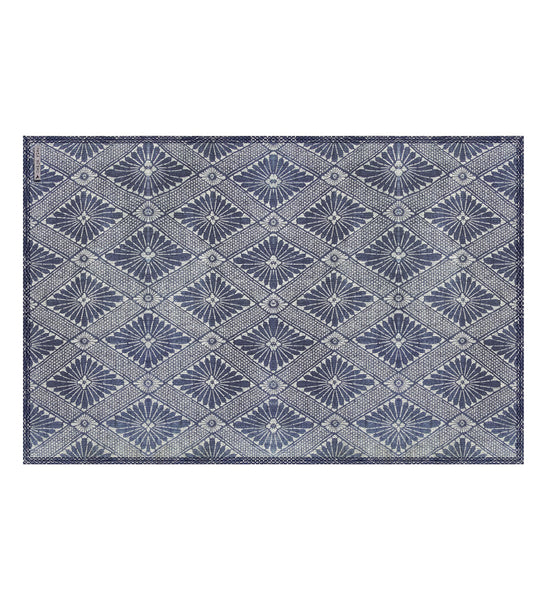 "Beija Flor Royal Indigo Diamond Placemat (13"" x 20"")"