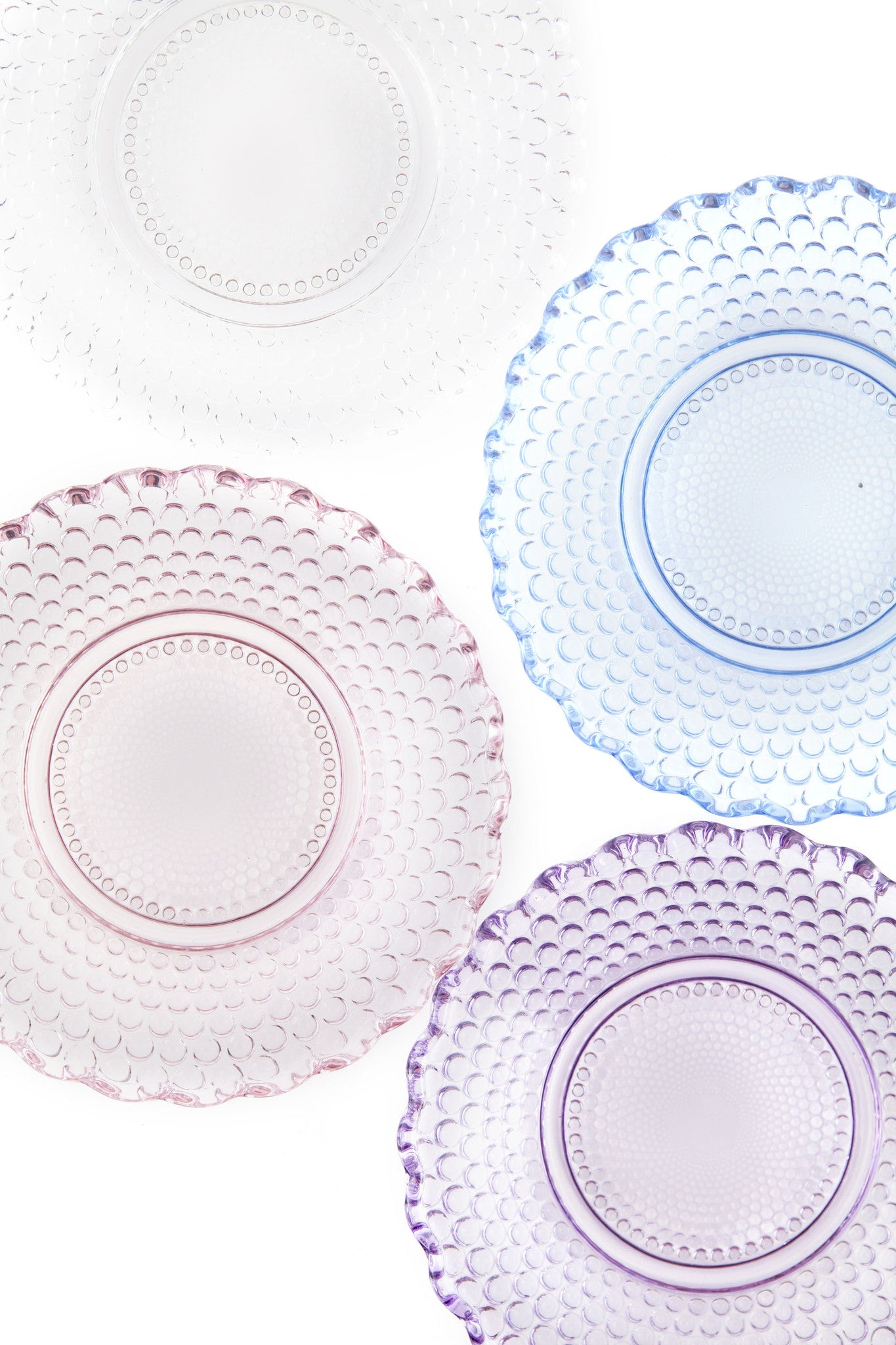 Dentelle Petit Point Glass Plate in Blush