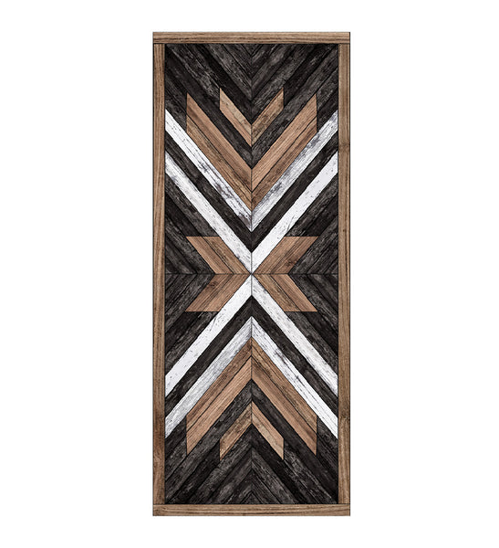 Beija Flor Wood Art Black & Brown Floor Mat