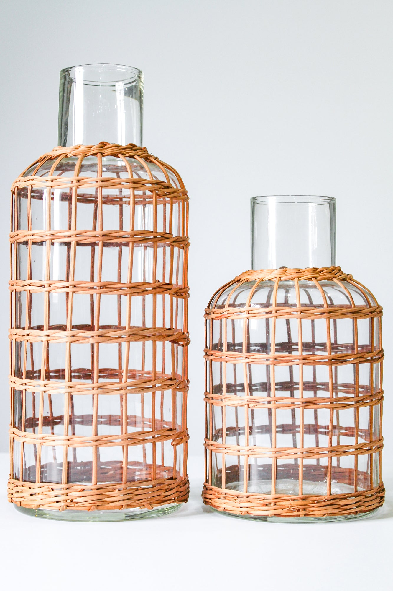 Rattan Cage Vase Carafe Small