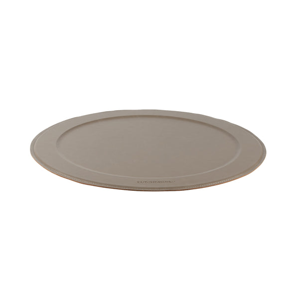 Dutchdeluxes Stylish Serving Tray Round New Grey