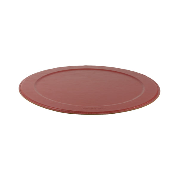 Dutchdeluxes Stylish Serving Tray Round New Ruby Red