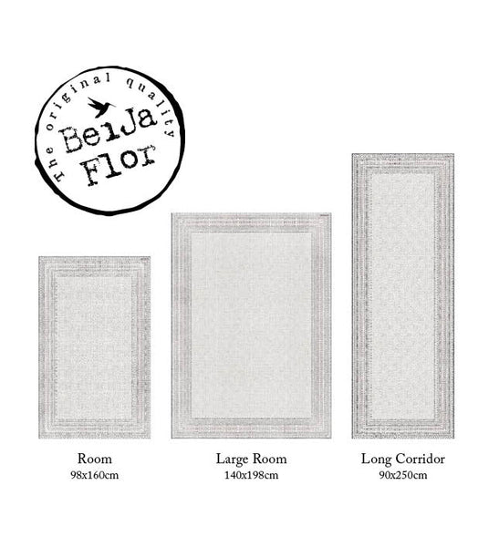 "Beija Flor Cream Emilia Large Room Size Floor Mat  (55"" x 79"")"