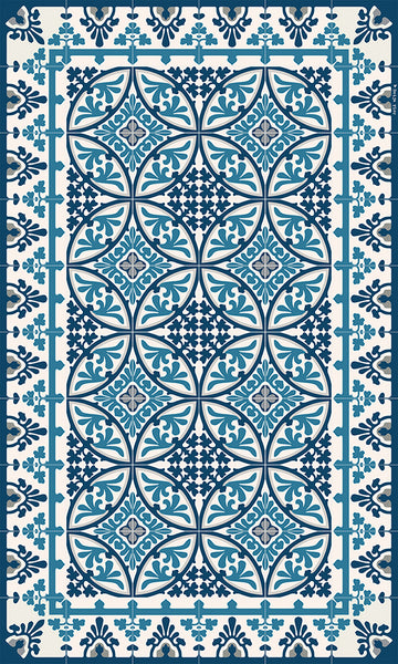 Beija Flor Dark Blue Barcelona Floor Mat