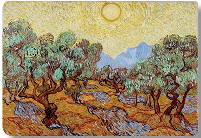 Van Gogh Olive Trees with Yellow Sky Placemat
