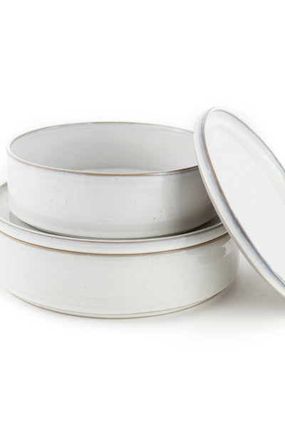 Yarnnakarn Rustic Salad Bowl and Plate Lid Set Large