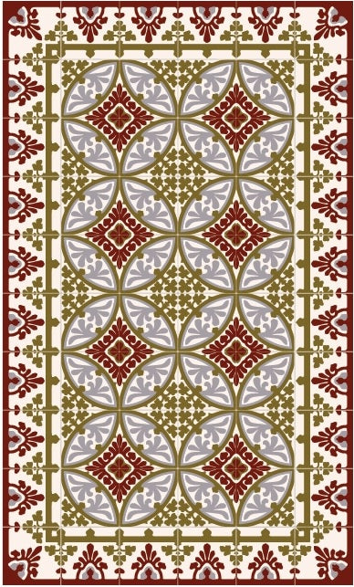 "Beija Flor Bordeaux Barcelona Table Floor Mat (48"" x 75"")"