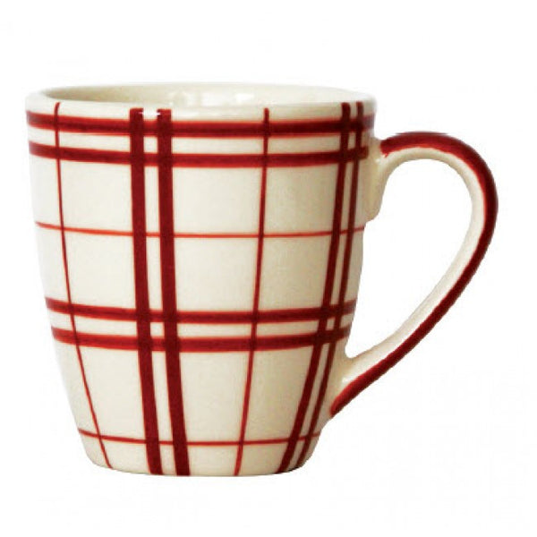 Campagne Red Mug Plaid
