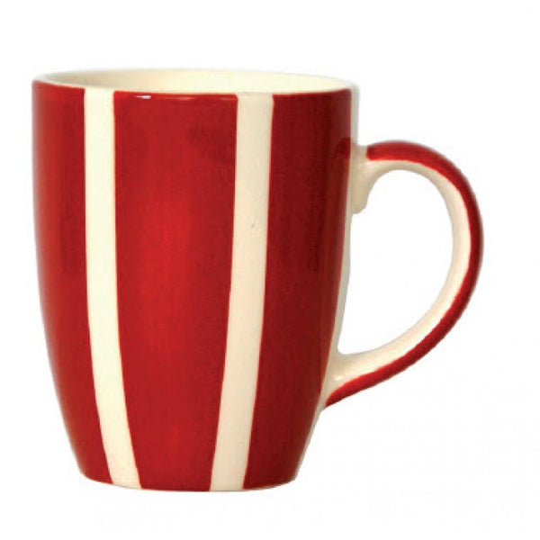 Campagne Red Mug Vertical Stripes