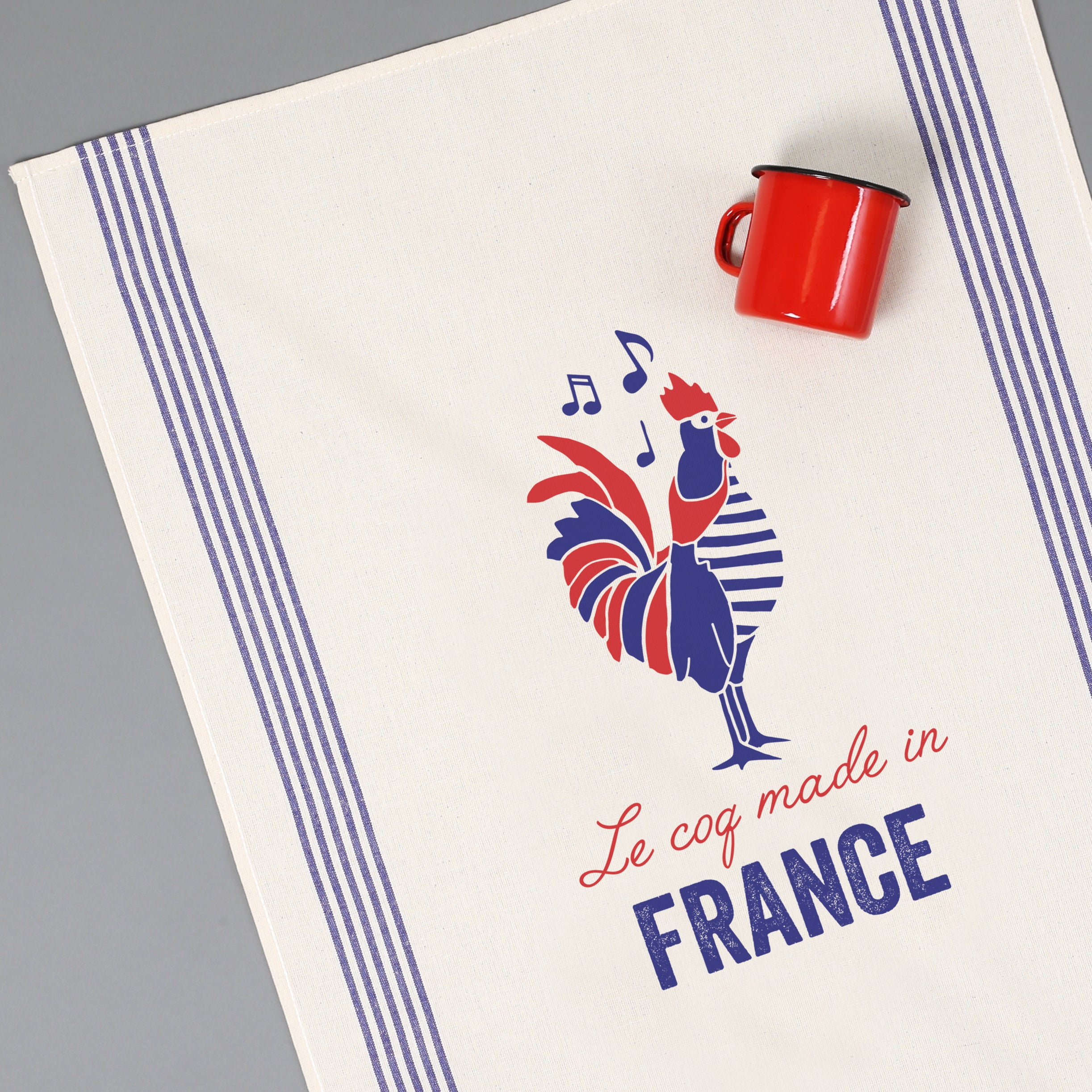 "Tissage de L'Ouest Le Coq Made in France Dish Towel (21.6"" x 31.4"")"