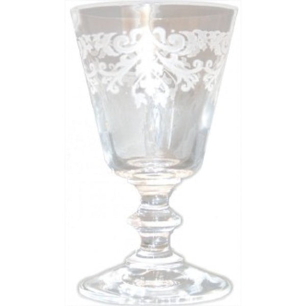 France Engraved Wine Glass