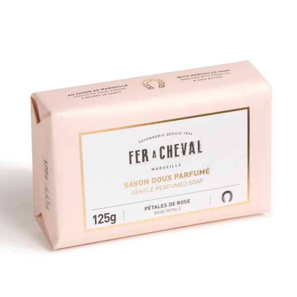 Fer à Cheval Gentle Perfumed Soap Bar - Rose Petals 125g