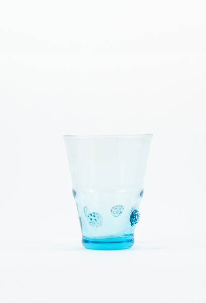Medium Tumbler Aqua Habsbourg Glass with Aqua Details