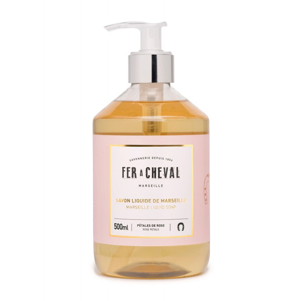 Fer à Cheval Marseille Liquid Soap Rose Petals 500ml