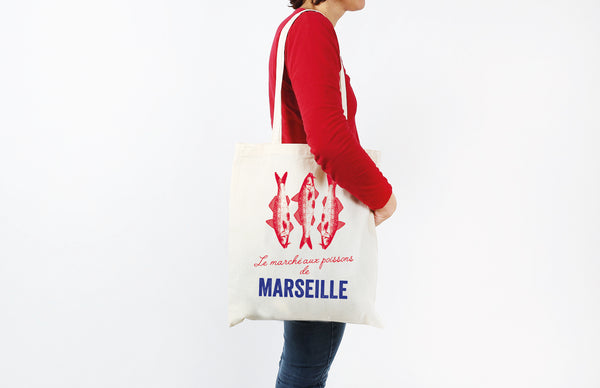 Tissage de L'Ouest The Fishing Port Of St Jean Tote Bag