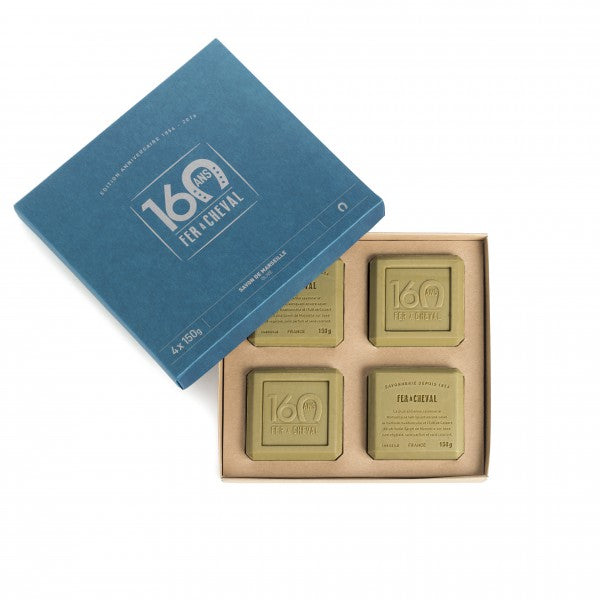 Fer à Cheval Gift Box Limited Edition 160 Years 4x 150g Marseille Soap Olive Oil
