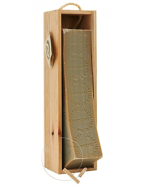 Marseille Soap Block in Wood Box with Iron Thread Cutter (2.5kg - 88oz)