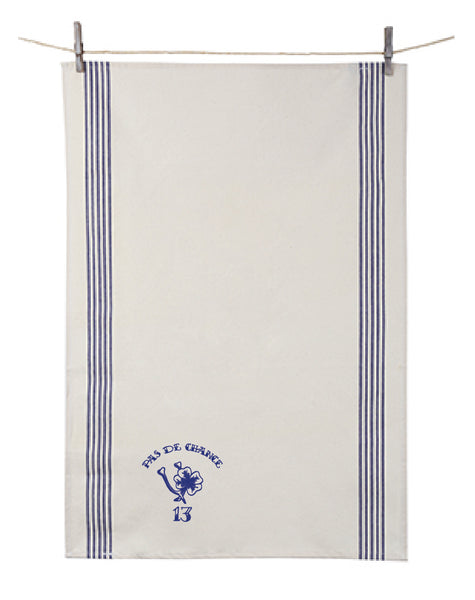 Orban & Sons Tatouage Pas de Chance Renzo Dish Towel Blue