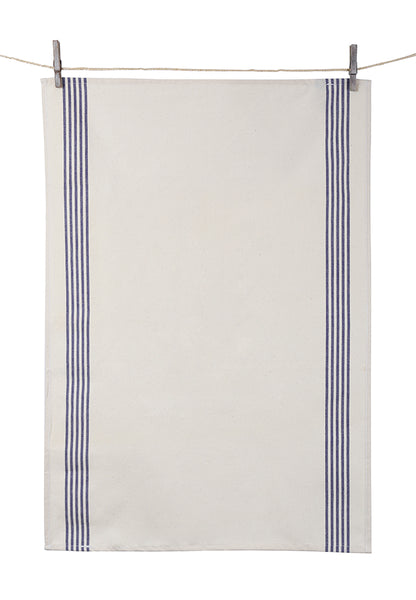 "Tissage de L'Ouest Set of 2 Renzo Dish Towels Blue (21.6"" x 31.4"")"