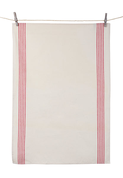 "Tissage de L'Ouest Set of 2 Renzo Dish Towels Red (21.6"" x 31.4"")"