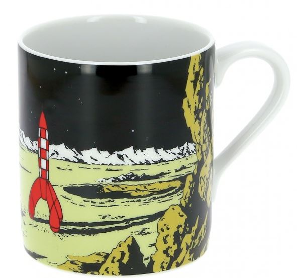 Tintin Mug rocket on the Moon