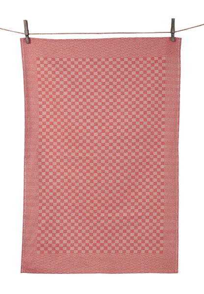 "Tissage de L'Ouest Set of 2 Traditional Dish Towels Red (21.6"" x 31.4"")"