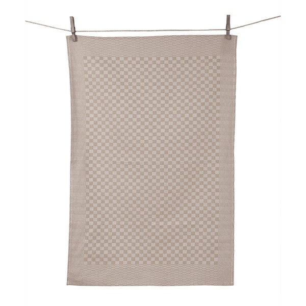 "Tissage de L'Ouest Set of 2 Traditional Dish Towels Gray (21.6"" x 31.4"")"