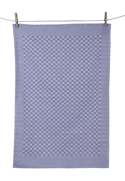 "Tissage de L'Ouest Set of 2 Traditional Dish Towels Blue (21.6"" x 31.4"")"