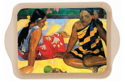 Gauguin Tahitian Women on the Beach Mini Metal Tray