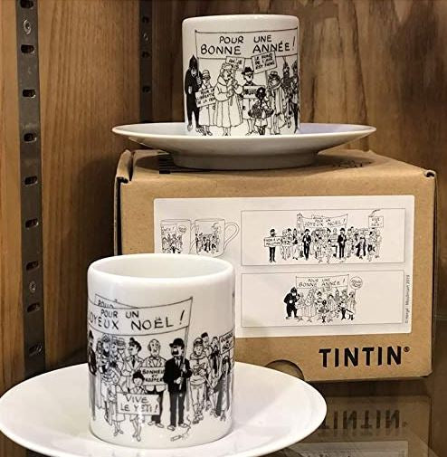 Tintin S/2 espresso cups and saucer