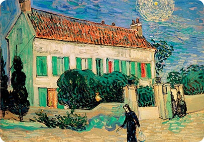 Van Gogh White House at Night Placemat