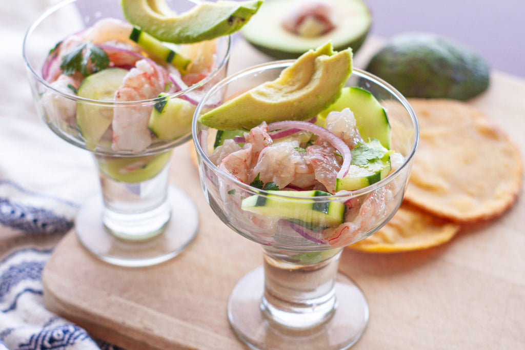 Shrimp Aguachile with Cucumber by Torie Borrelli