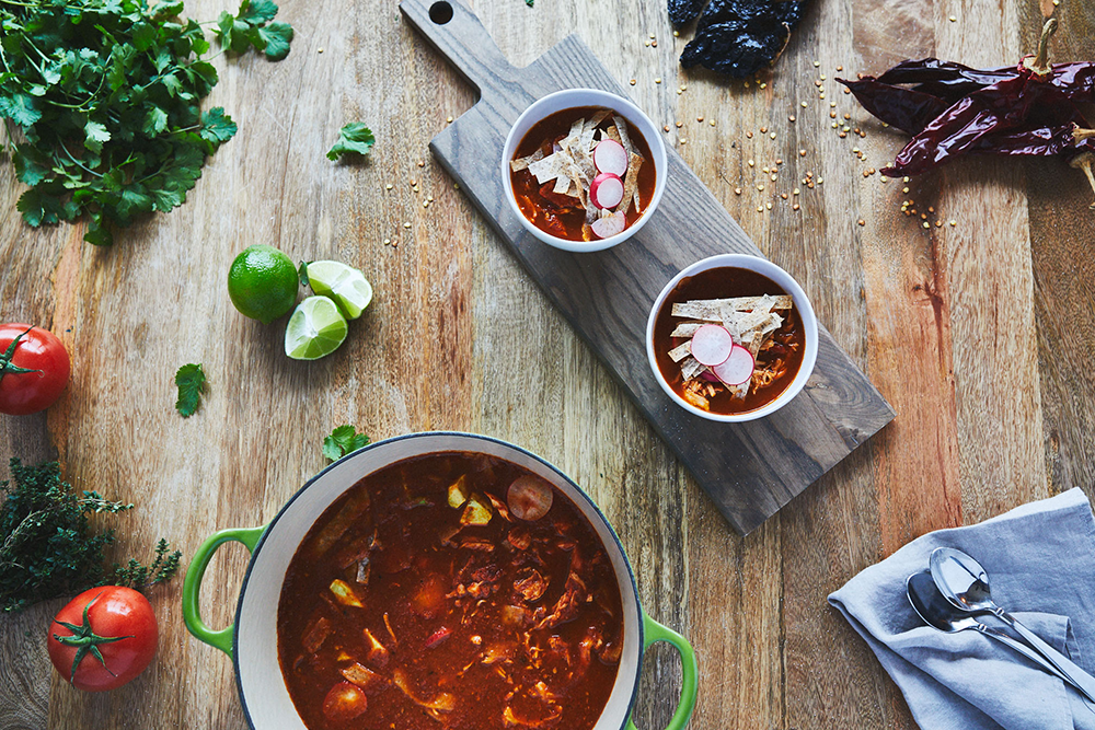 Smoky Chile Tortilla Soup