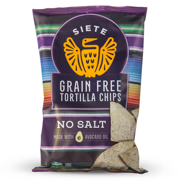 No Salt Grain Free Tortilla Chips 5oz  - 6 Bags