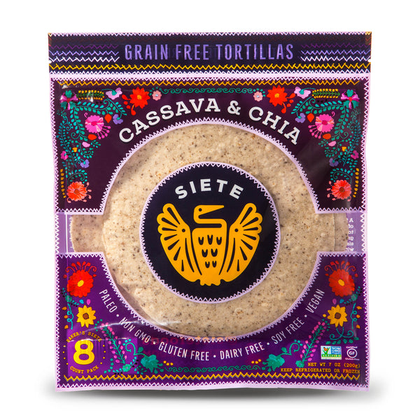 Cassava & Chia Tortillas - 6 Packs