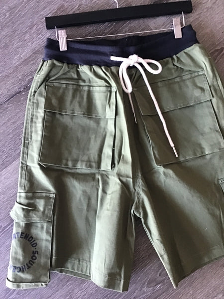 Army green U shorts