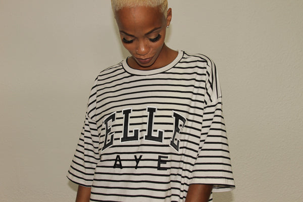 EllE AYE 'BLACK' Striped Shirt