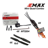 ZMR 250 V2 Mini Quadcopter Kit w/ PCB and LED W/EMAX Mini Quad Combo (MT2204, 12A ESC, 6x3)