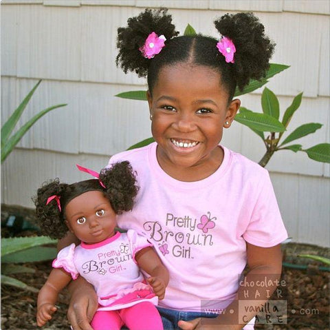 Pretty Brown Girl Doll & T-Shirt Bundle