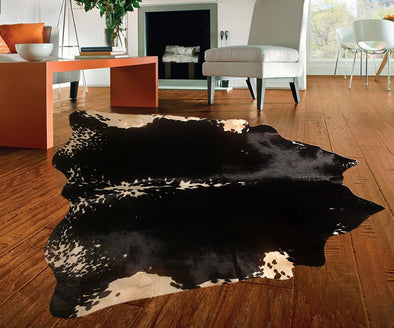 "New Cowhide Leather Area Rugs size 55"" by 51"" inches (19.5 sq. ft) Top Quality A22"