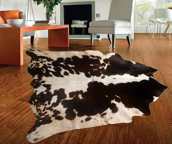 "New Cowhide Leather Area Rugs size 46"" by 45"" inches (14.4 sq. ft) Top Quality A"
