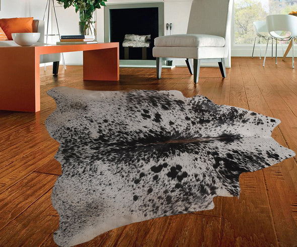 "New Cowhide Leather Area Rugs size 47"" by 45"" inches (14.7 sq. ft) Top Quality A24"