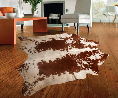 "New Cowhide Leather Area Rugs size 49"" by 50"" inches (17 sq. ft) Top Quality A-26"