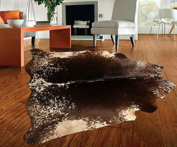 "New Cowhide Leather Area Rugs size 47"" by 46"" inches (15 sq. ft) Top Quality A27"