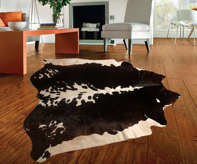 "New Cowhide Leather Area Rugs size 60"" by 58"" inches (24.15 sq. ft) Top Quality"