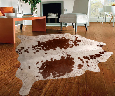 "New Cowhide Leather Area Rugs size 50"" by 47"" inches (16.30 sq. ft) Top Quality"