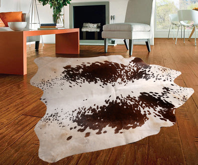 "New Cowhide Leather Area Rugs size 47"" by 47"" inches (15.3 sq. ft) Top Quality A"