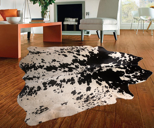 "New Cowhide Leather Area Rugs size 52"" by 48"" inches (17.33 sq. ft) Top Quality"