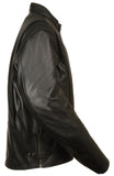 Men's Classic Scooter Jacket W/ Side Zippers - Divine Leather USA - 3