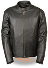 Men's Classic Scooter Jacket W/ Side Zippers - Divine Leather USA - 1